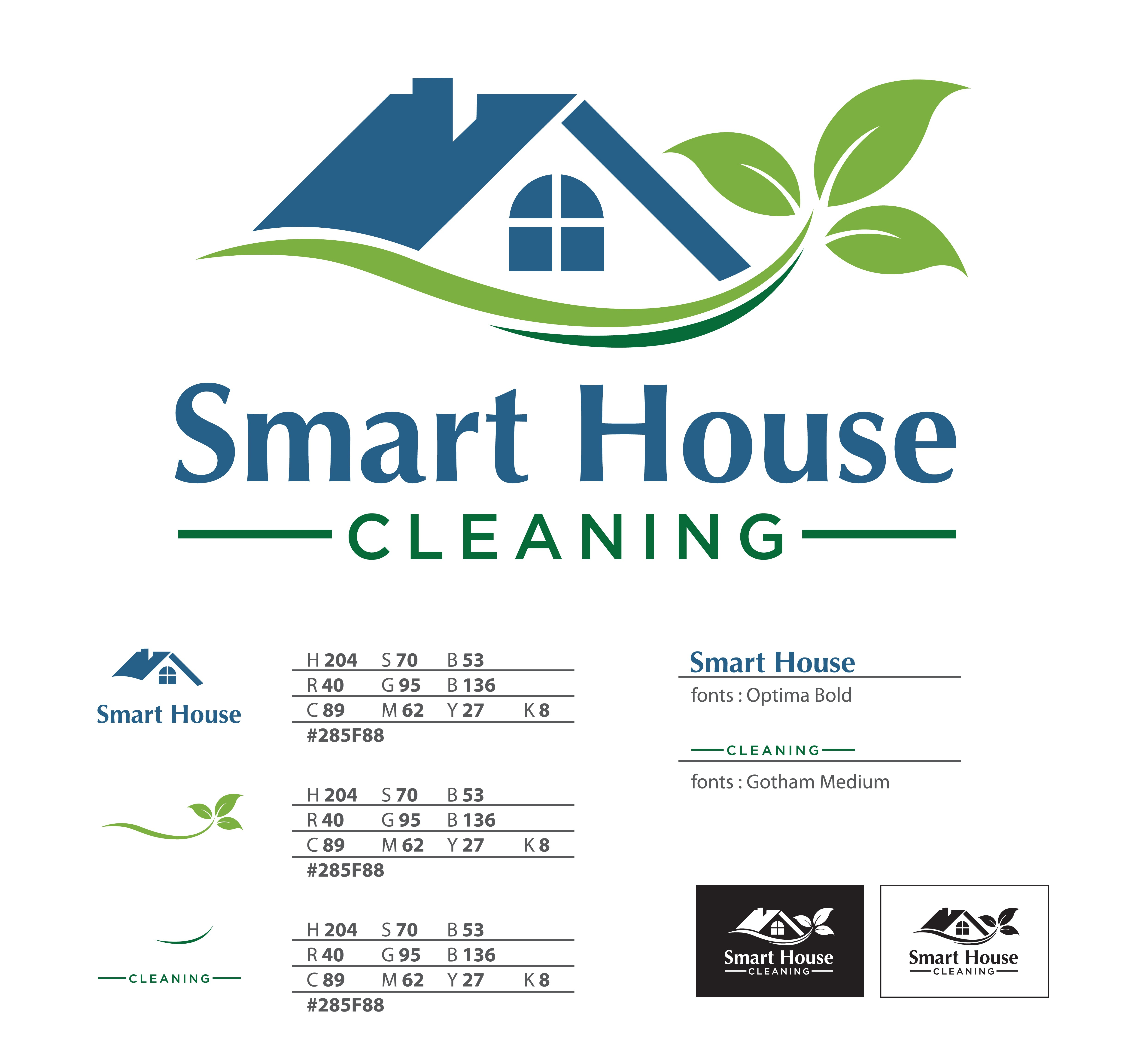 Create a sophisticated and attractive logo for Smart House Cleaning