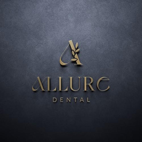 Allure dental logo design