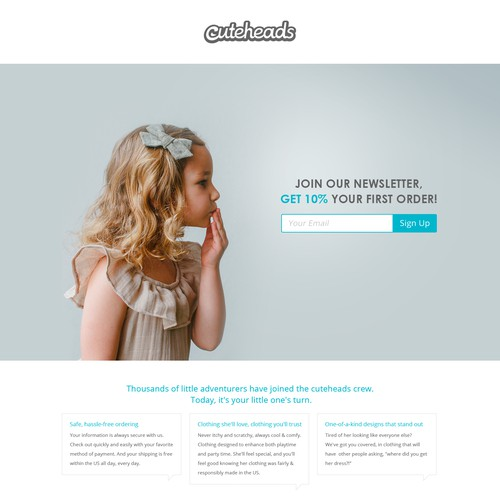 Landing page for Cuteheads
