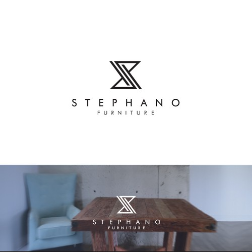 Recognizable logo for reclaimed wood furniture manufacturer.