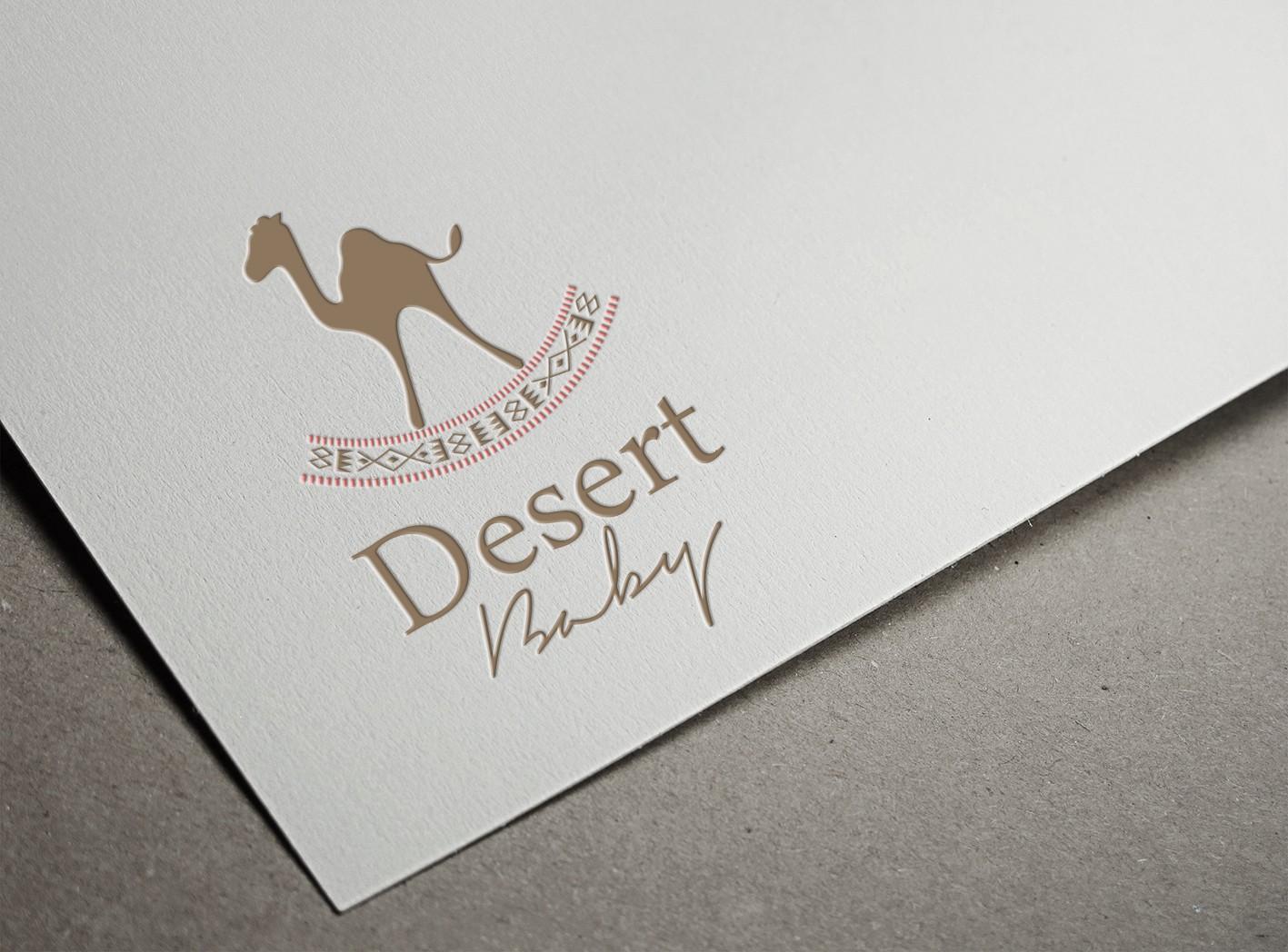 """Create a modern Kuwaiti/Arab inspired logo for childrens line """"Desert Baby"""""""
