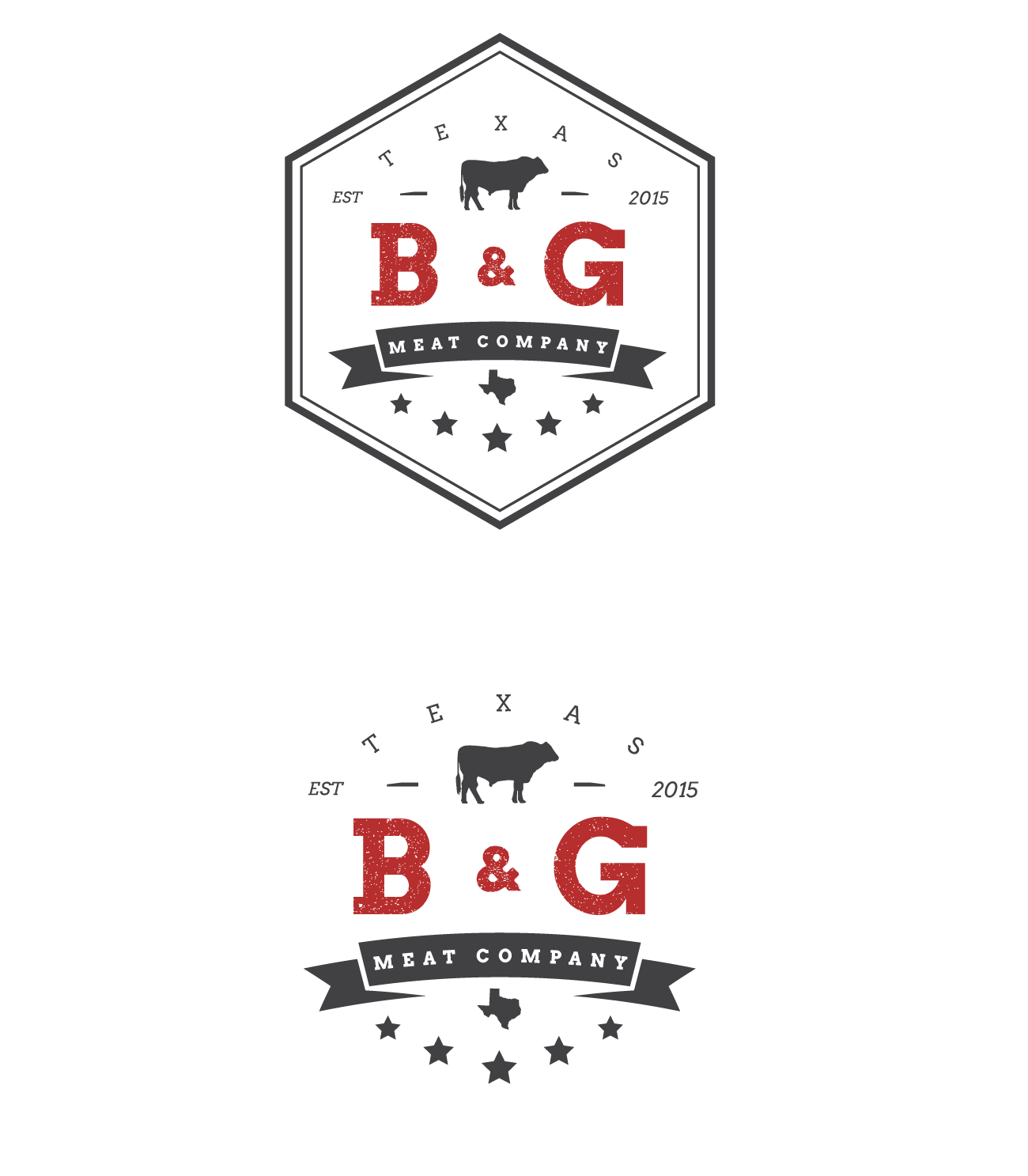 Create an engaging logo for an organic meat company in the heart of Texas