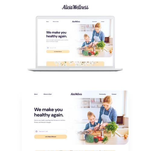 Alicia Wellness Landing Page