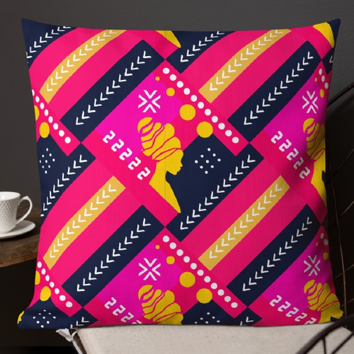 AFRICAN ART throw pillows