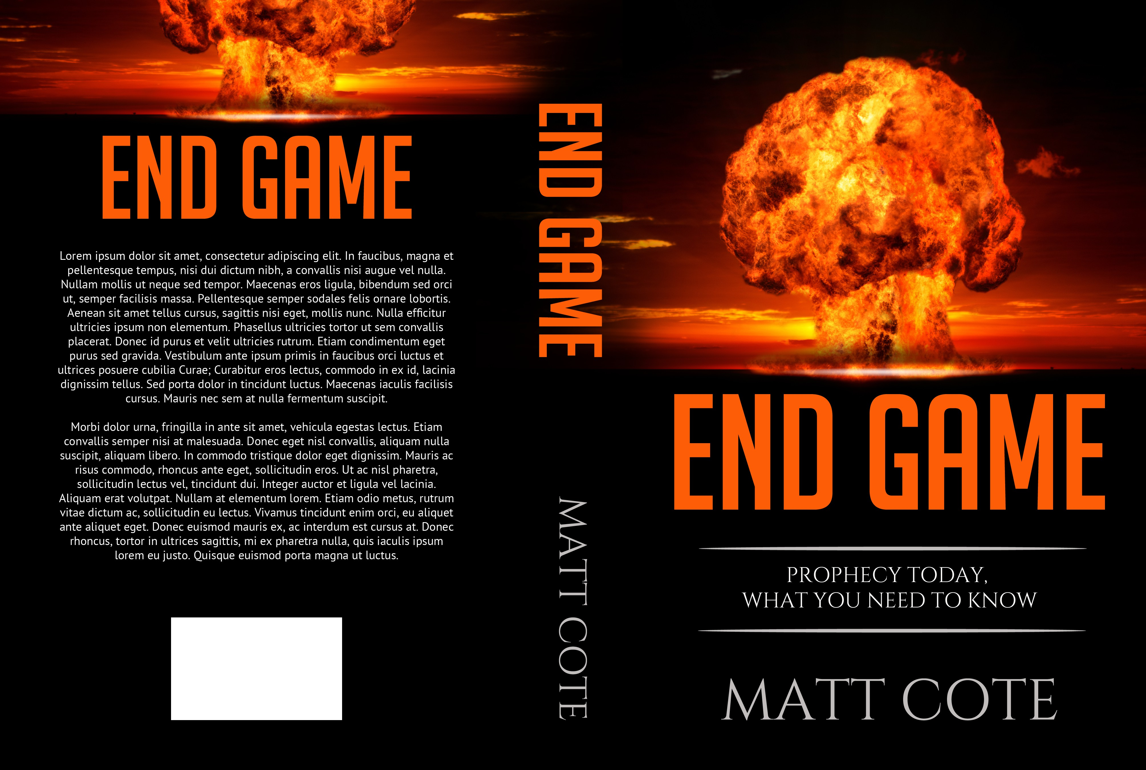 Need a BOLD, end of days book cover!