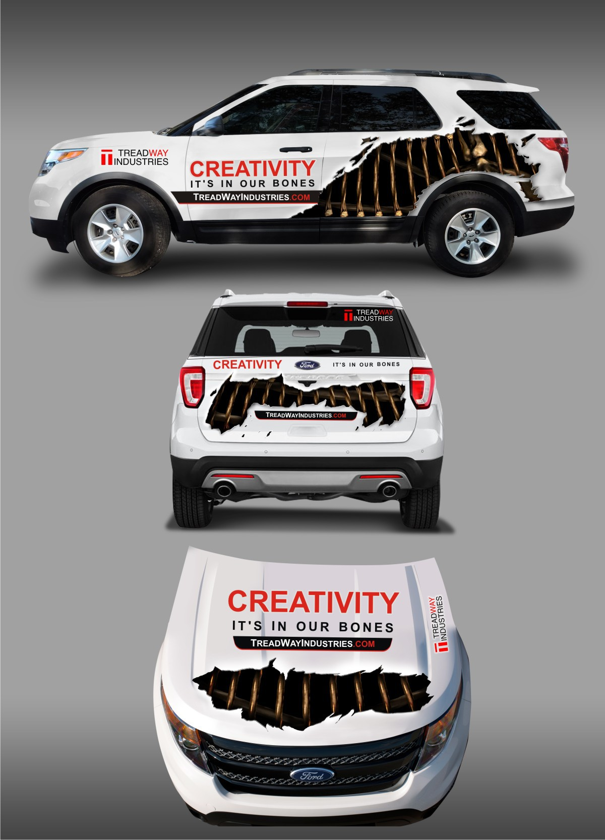 BLOOD, GUTS AND BRAINS - vehicle wrap for movie prop company!