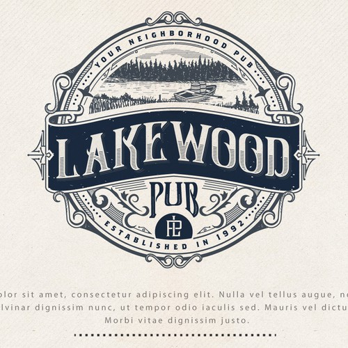 LOGO DESIGN FOR LAKEWOOD PUB