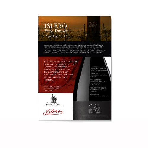 Islero Wine Dinner