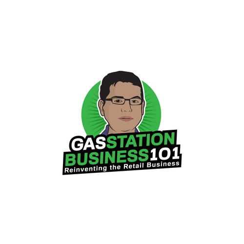 "Logo for podcast ""gas station business 101"""