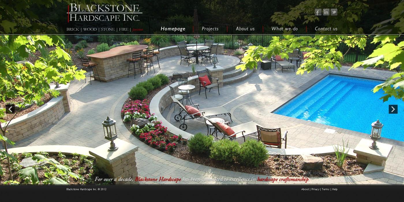 Help www. blackstonehardscape.com with a new website design