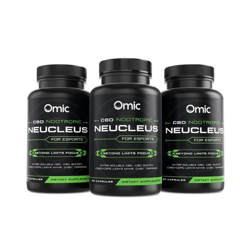 Label Design for Omic Neucleus CBD Nootropic