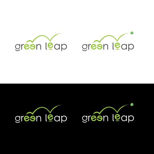Green leap logo