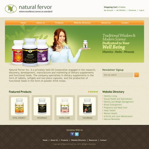 Natural Fervor needs a new website design (Health Supplements)