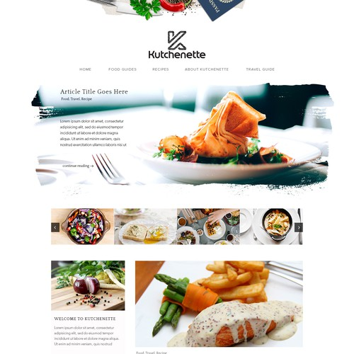 Blog Website for Kutchenette