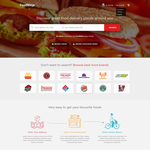 Website Design for FoodNinja