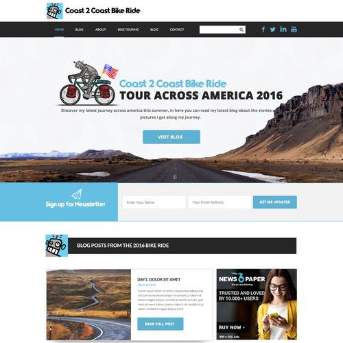 Web Design for a Bike Touring Blog