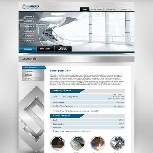 Metal Company Web Page Design