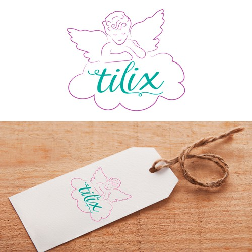 Logo for baby and children clothing line