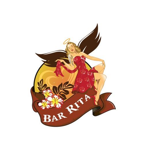 Cool hip logo for a bar restaurant