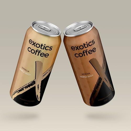 Exotics coffe energy drink