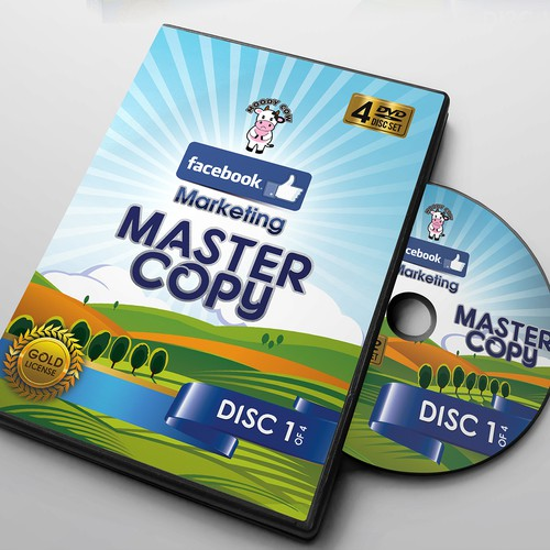 DVD case design for Moody Cow