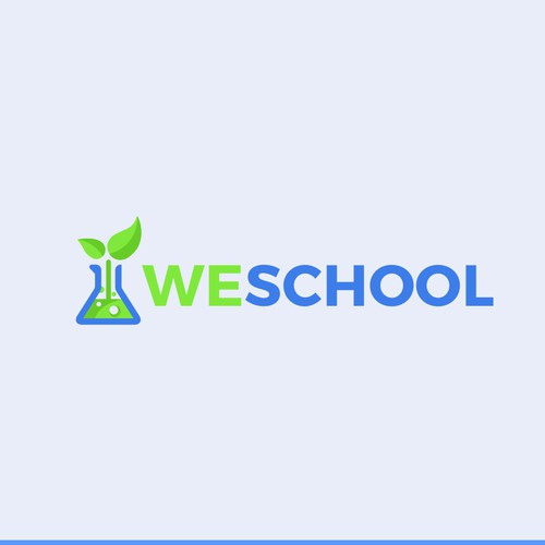 Winning competition entry for online education company Weschool