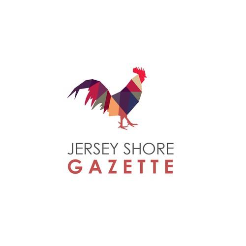 Concept logo for  Jersey Shore Gazette