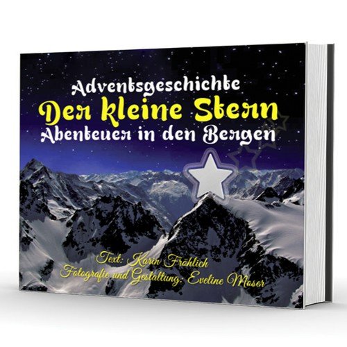 """Child friendly Cover for Advent book """"The Little Star""""."""