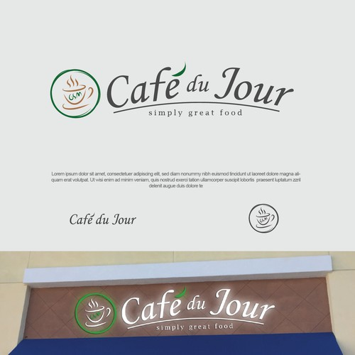 Classy logo foe Cafe du Jour