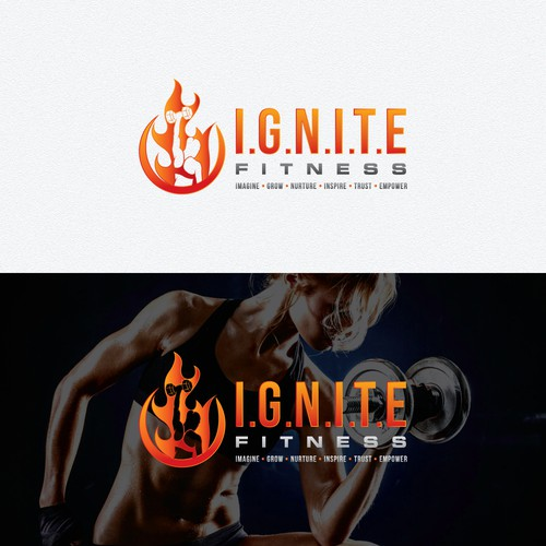 Logo design for online fitness and nutrition coach for women