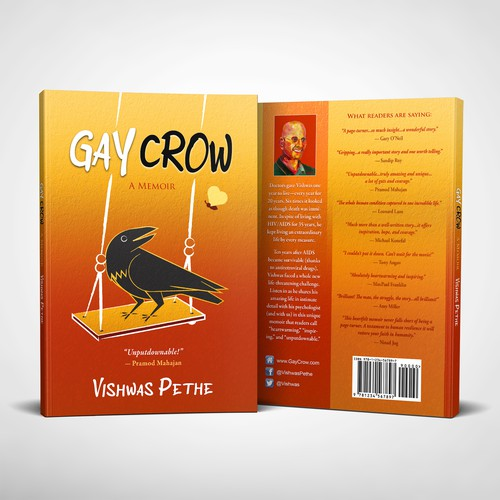 """Book cover for the Memoir """"Gay Crow"""""""