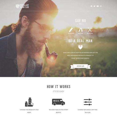 DollarBeardClub Landing Page Redesign