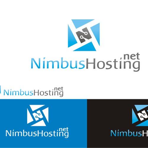 Logo design for a cloud computing company: NimbusHosting.Net