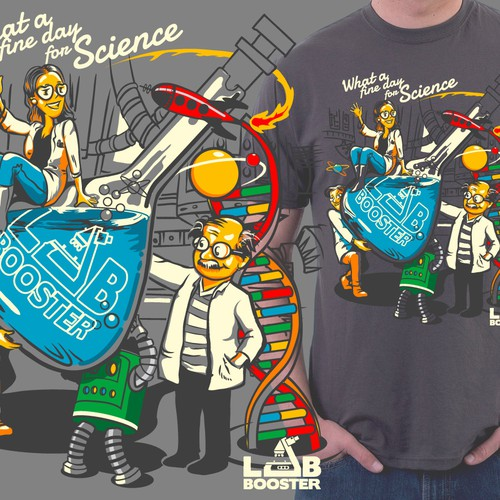 LabBooster t-shirt design