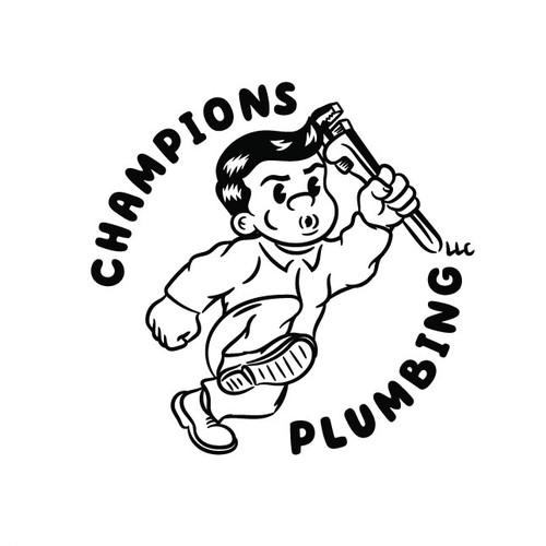 Retro logo concept for a plumbing company