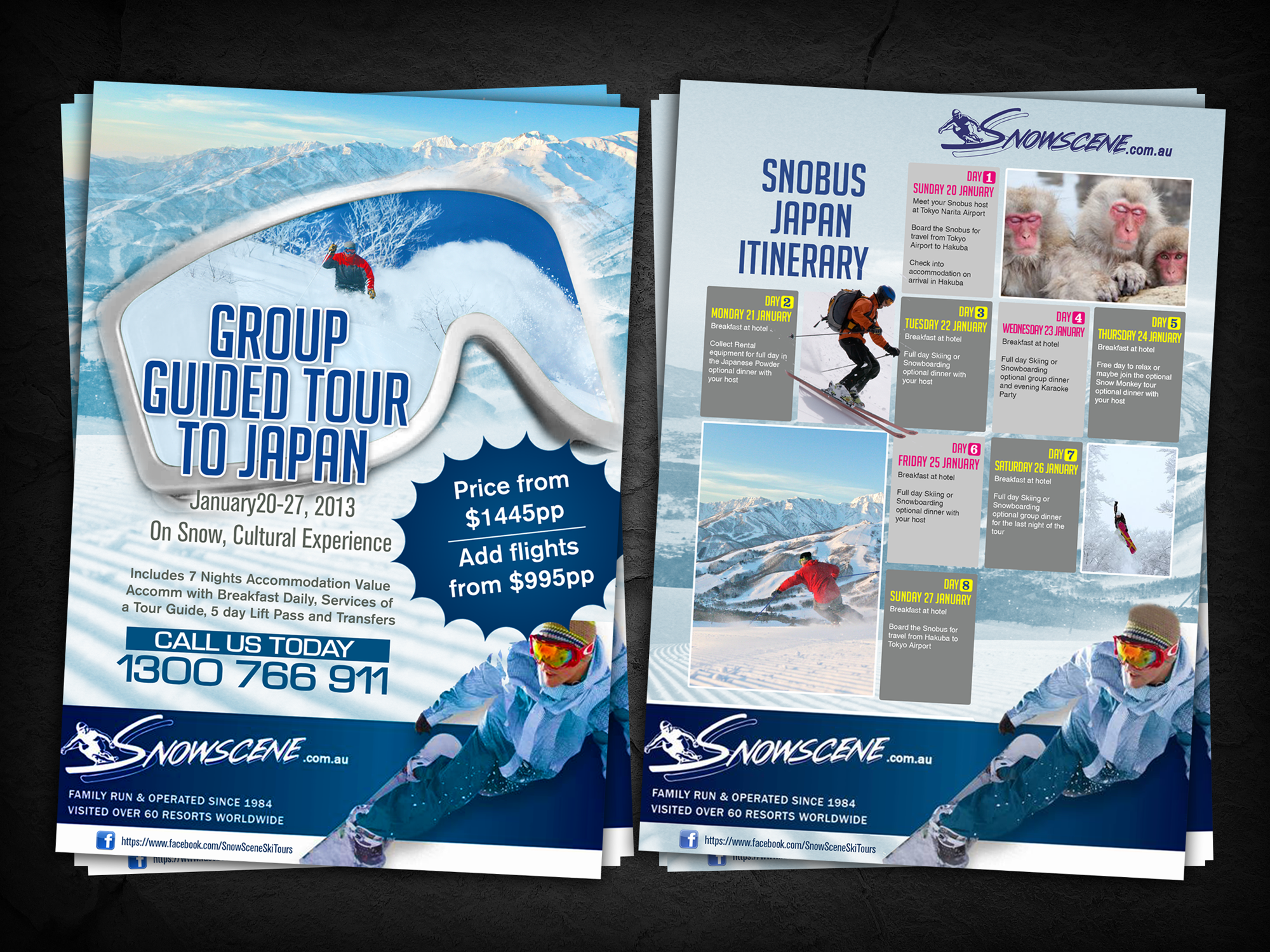 Help Snowscene with a new postcard or flyer