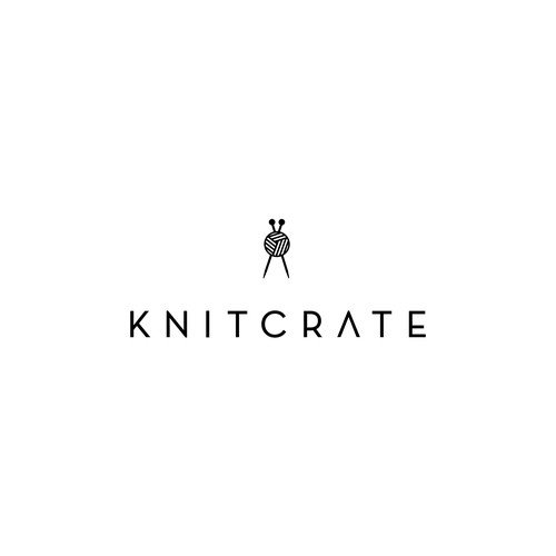 Minimal logo for worldwide knitting subscription service
