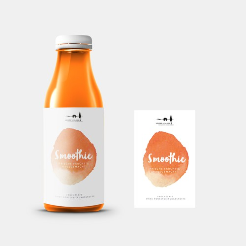 Smoothie Label Design
