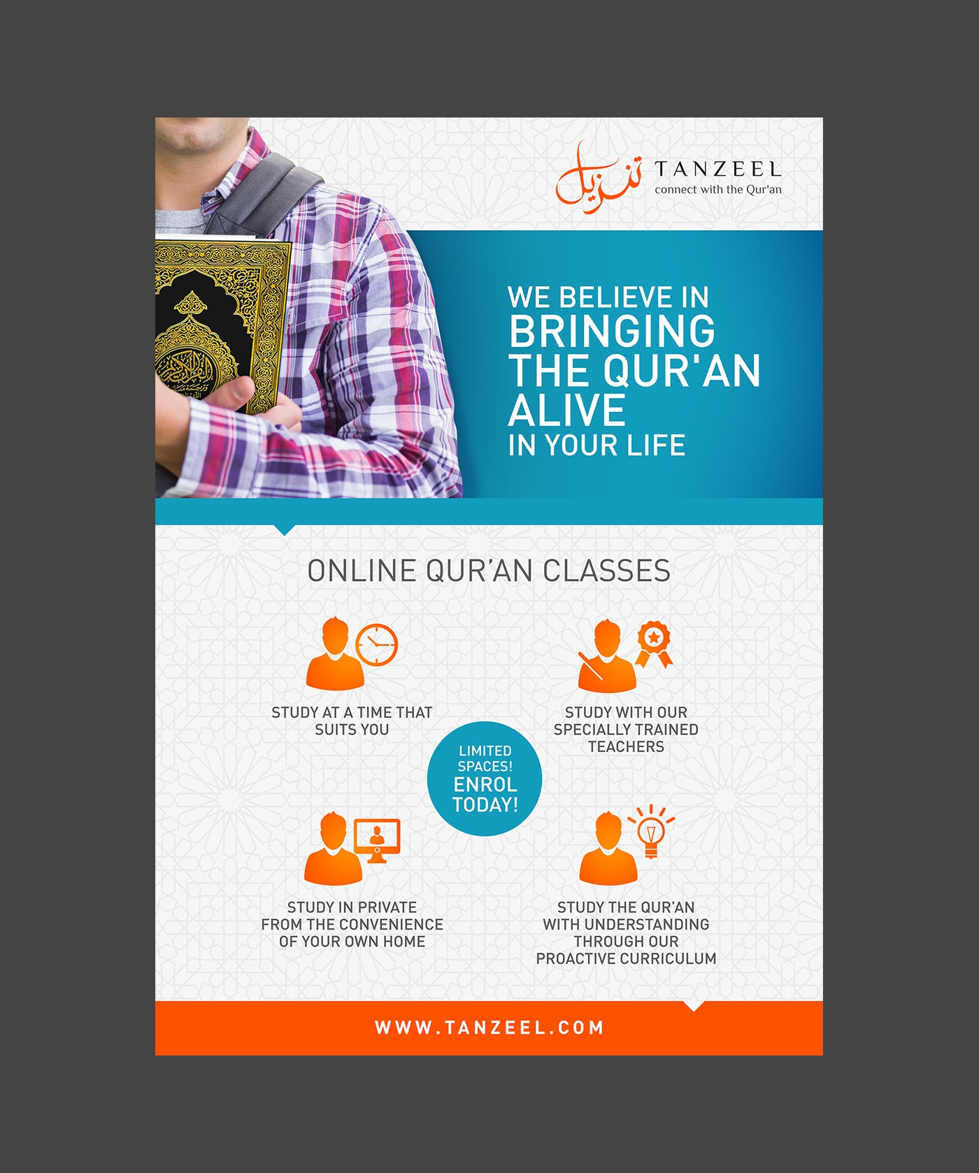Online Qur'an Institute requires well designed marketing collateral