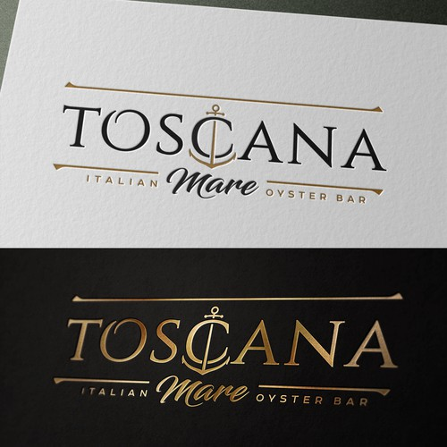 Elegant logo for Italian Oyster Bar