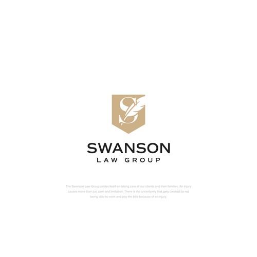 Elegent logo mark for law group firm