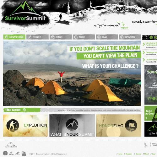 Homepage attempt for survivor summit