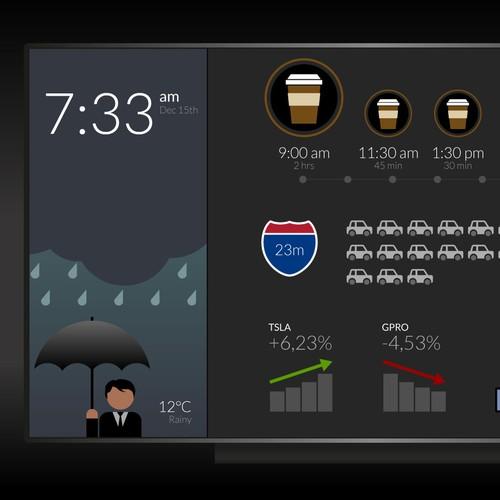 Good morning screendesign concept for Apple TV.