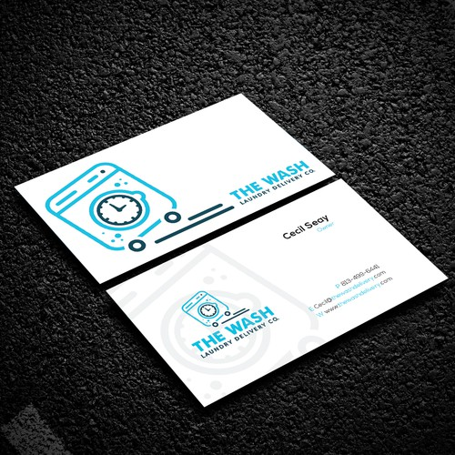 Laundry Delivery Company Business Card