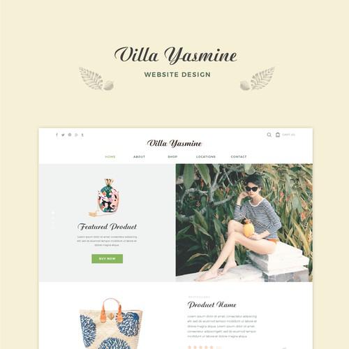 Villa Yasmine Web Design