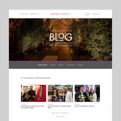Branding & website for one of the UK's most well-known event florists