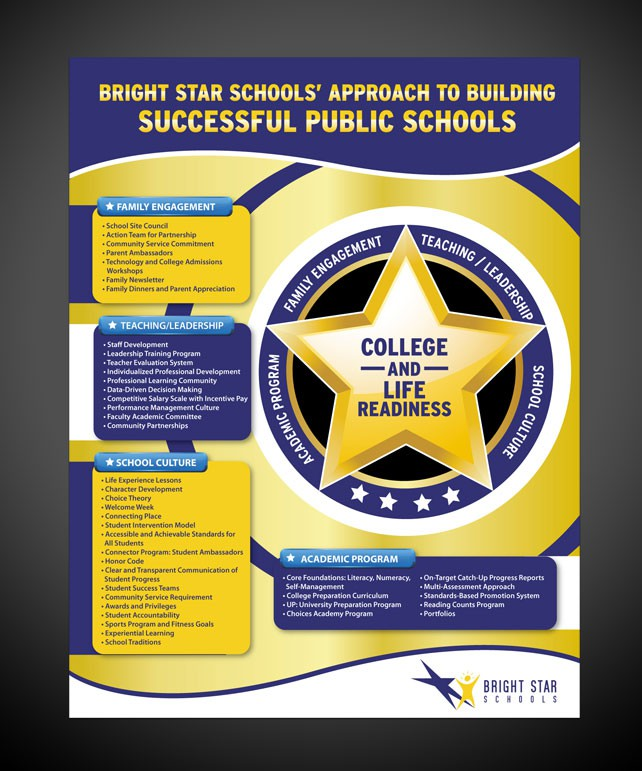 Bright Star Schools needs a new print or packaging design