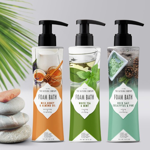 Foam bath product label