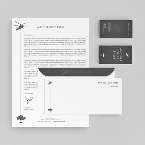 Help Ancient Olive Trees with a new business card