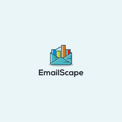 Creative logo for fun tech company EmailScape